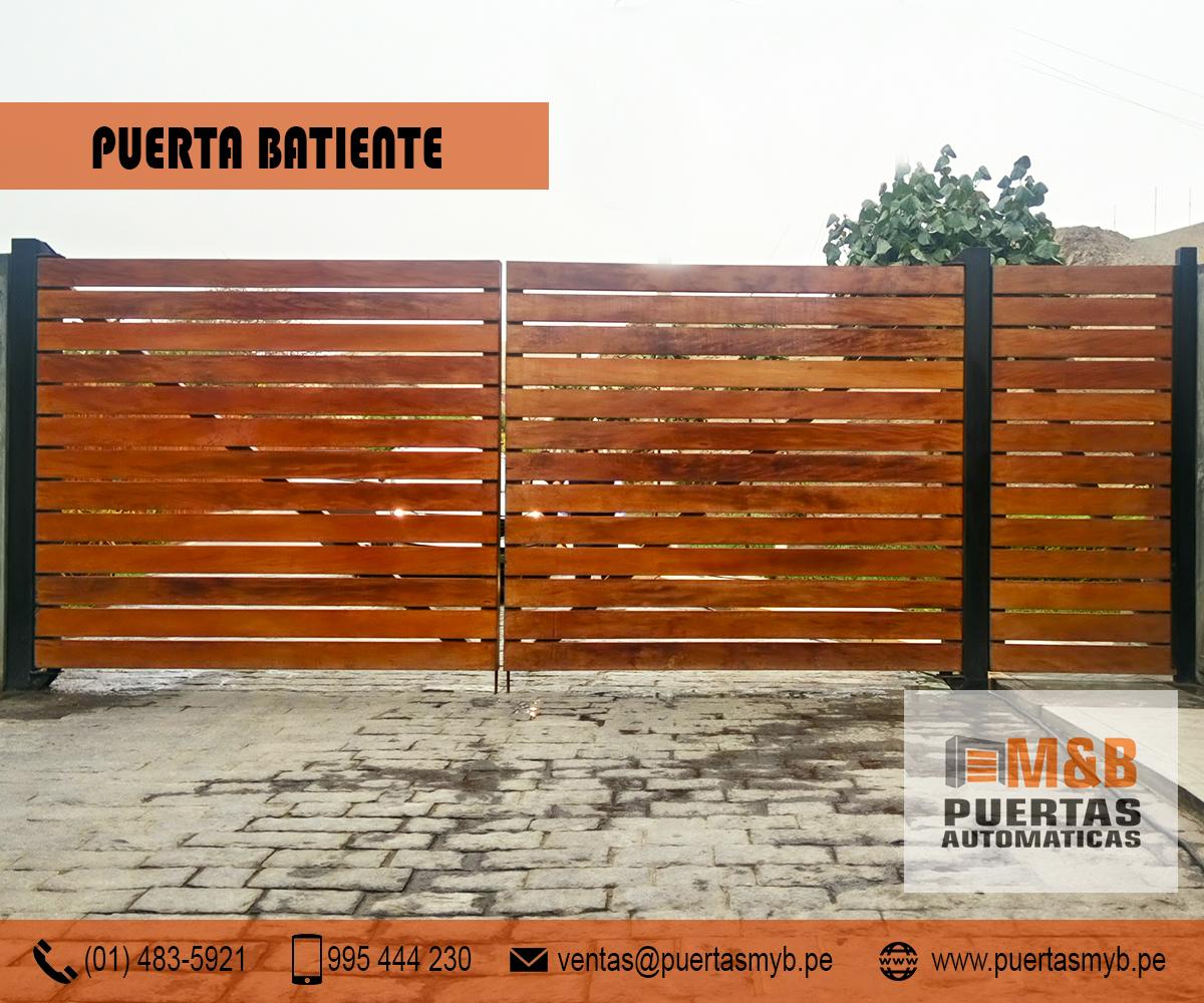 Puertas de garaje batientes m b puertas autom ticas - Brazos puertas automaticas ...