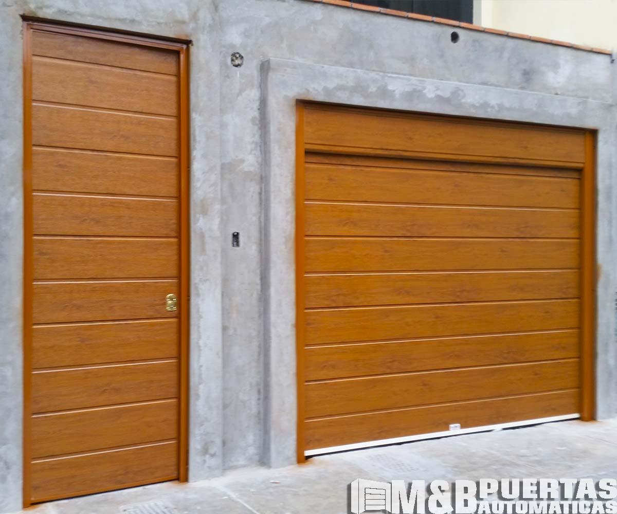 Puertas principales en madera y panel importado m b for Nombres de garajes