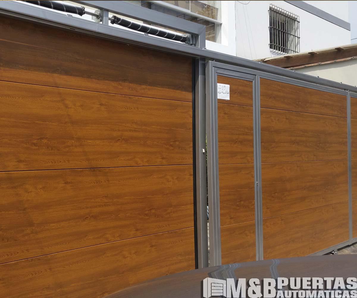 Puertas de garaje corredizas m b puertas autom ticas - Proyecto puerta de garaje ...