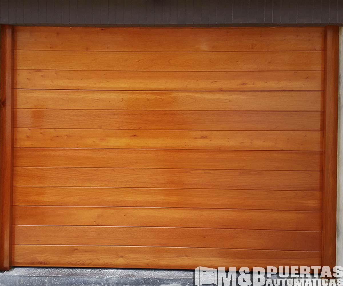 Puertas de garaje de madera puerta de acero con madera for Puertas de garaje de madera