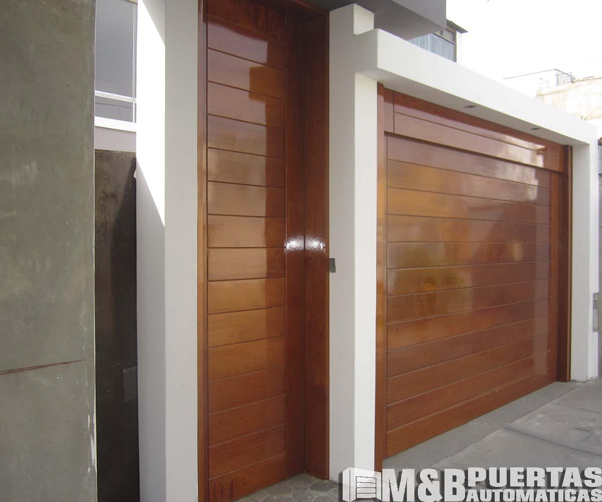 Puertas principales en madera y panel importado m b - Proyecto puerta de garaje ...