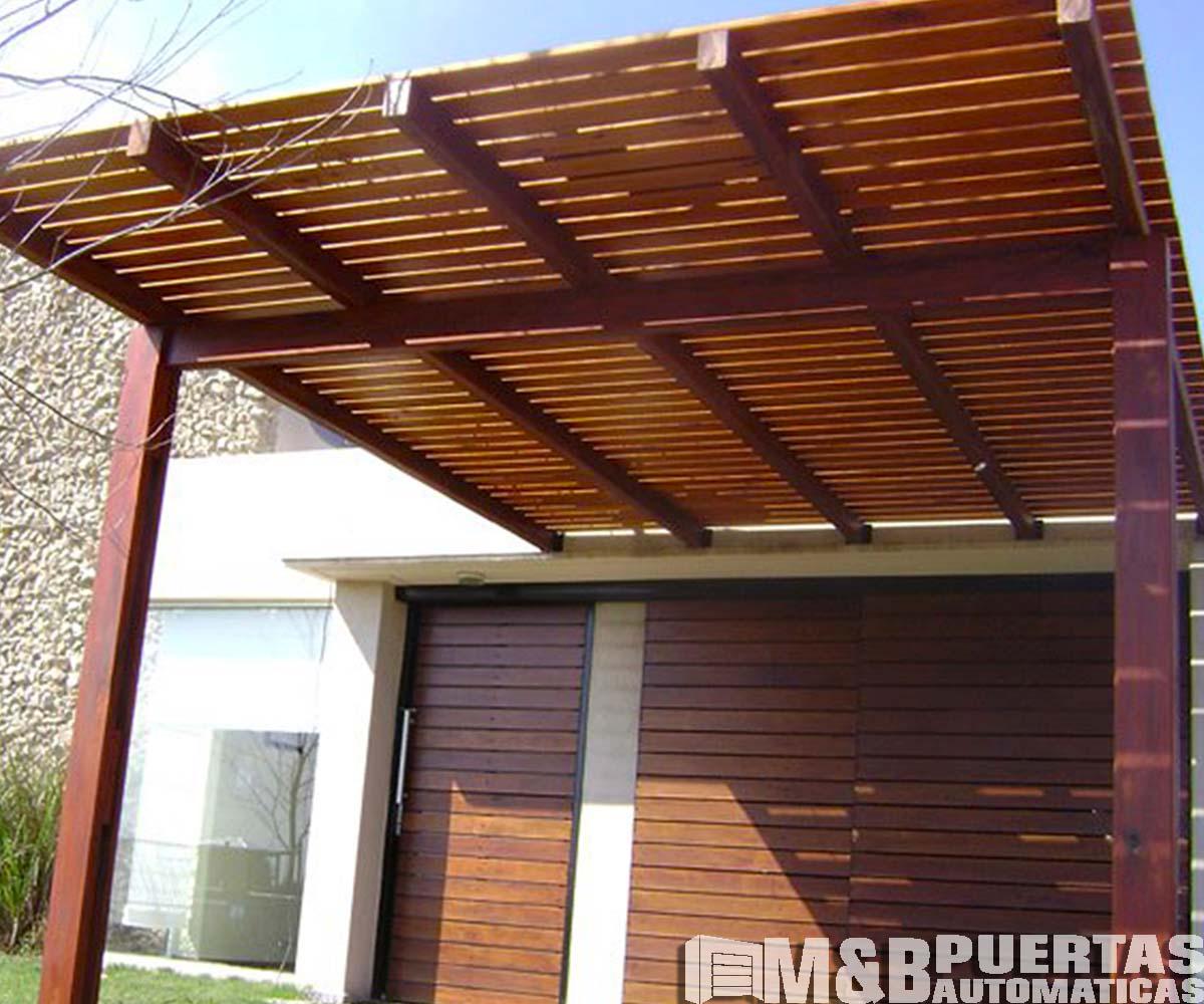 Techos de madera sol y sombra m b puertas autom ticas for Techos de madera para casas
