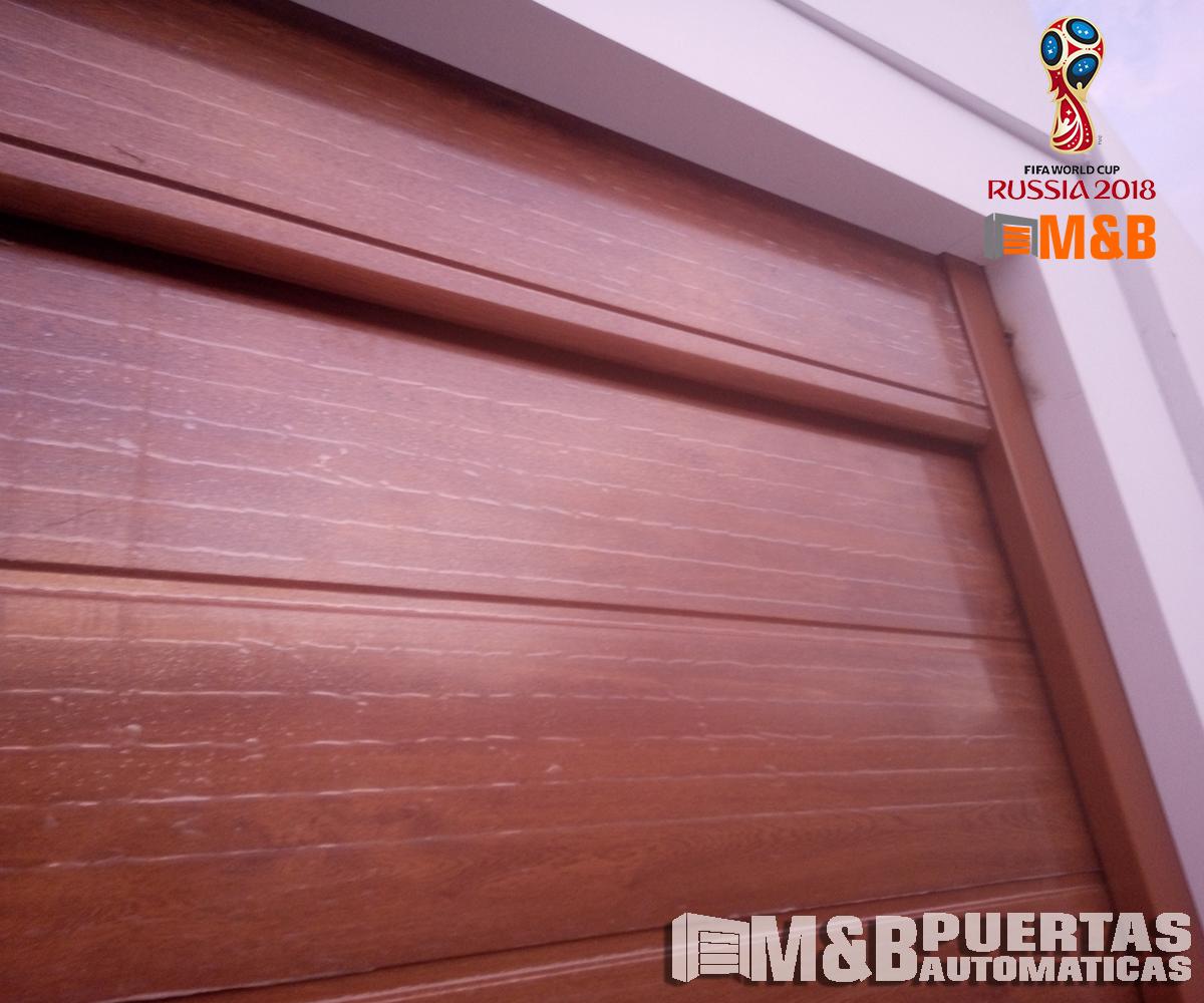 Proyecto puerta seccional de panel madera en alto bujama - Proyecto puerta de garaje ...