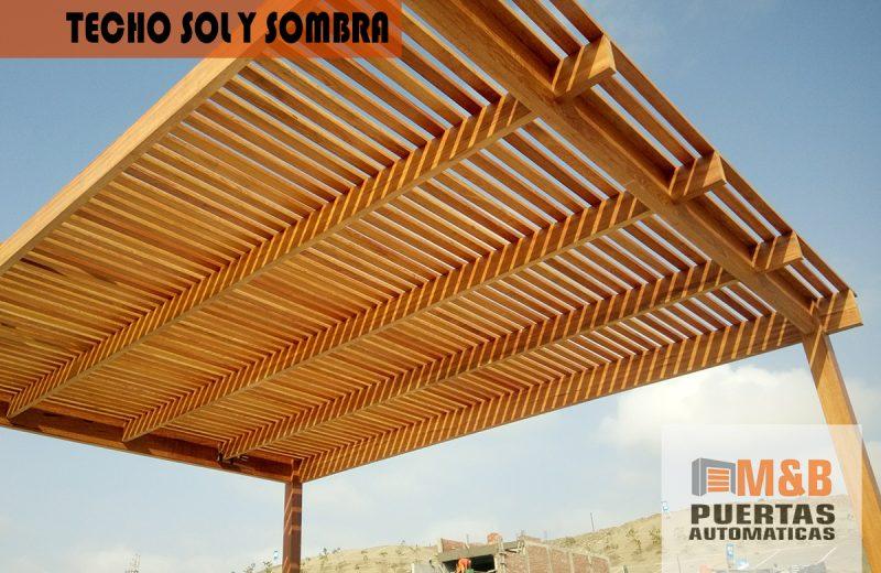 Techos sol y sombra para terrazas y jard n los mejores for Materiales para techos de madera