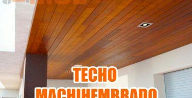 TECHO MACHIHEMBRADO CON DICROICOS