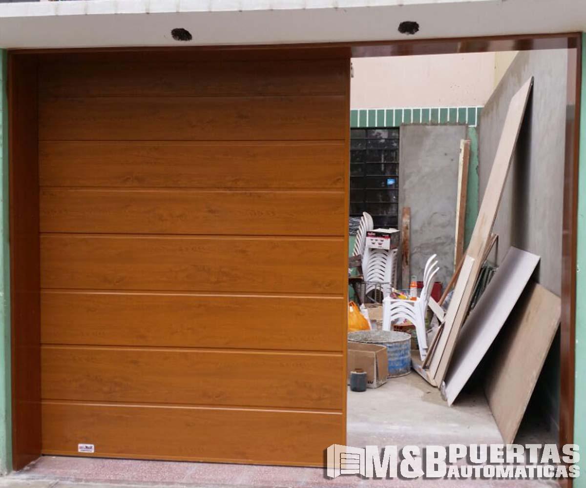 Puertas de garaje en panel importado tipo madera m b puertas autom ticas - Tipos de puertas corredizas ...
