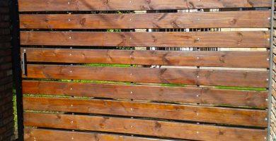 porton corredizo listones madera