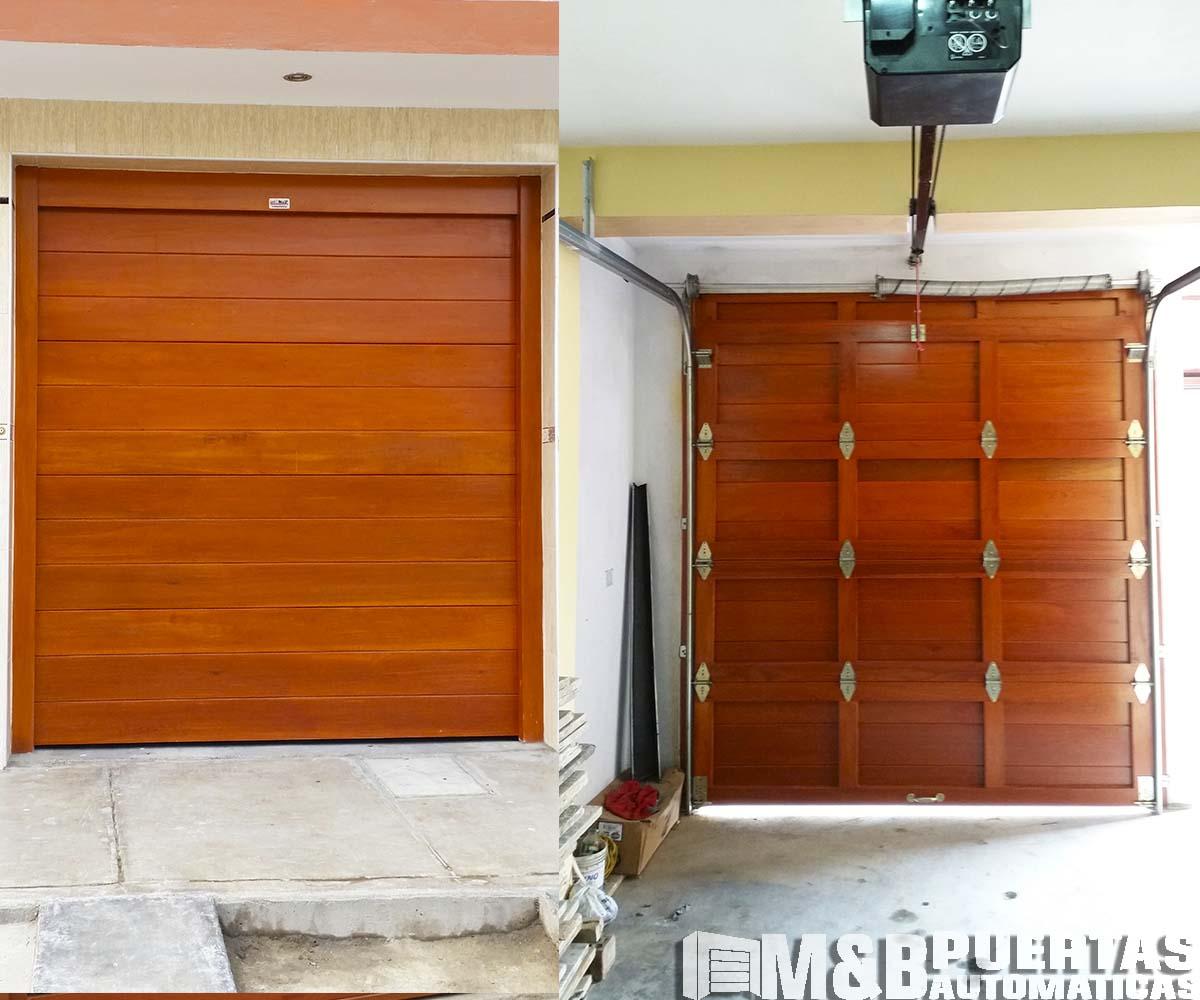 Puertas de garaje con sistema seccional m b puertas for Puerta corrediza externa