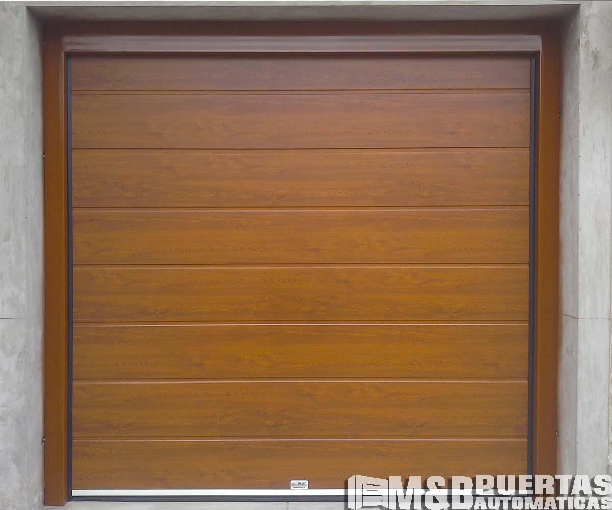 Puertas de garaje en panel tipo sandwich m b puertas - Tipos de puertas de garaje ...