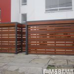 puerta madera tipo reja