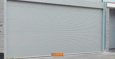 puerta seccional panel aluminio