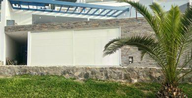puertas corredizas panel flat blanco pirineo