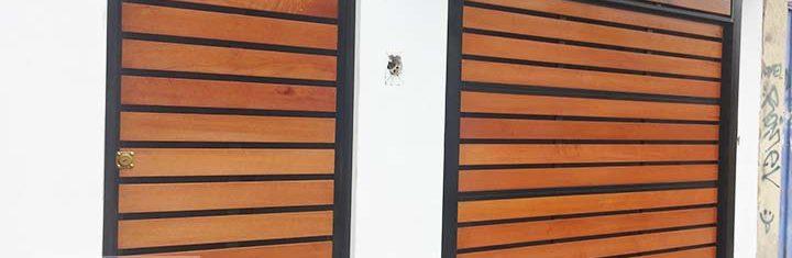puerta seccional listones tipo reja